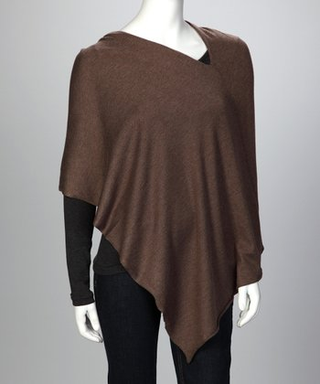 Dusty Brown Ever Cashmere-Blend Poncho - Women & Plus