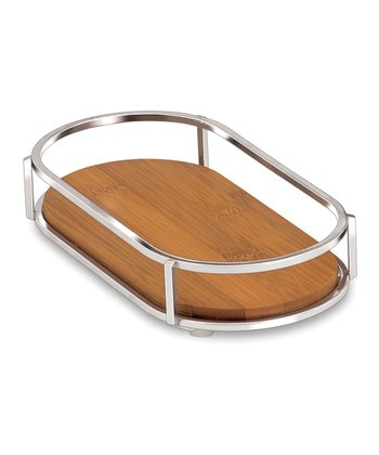 Chrome & Bamboo Tray
