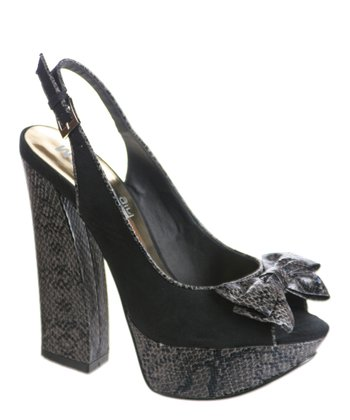 Black Highline Platform Slingback