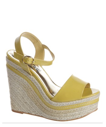 Yellow Patent Surf Espadrille