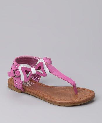 Fuschia & White Marie 70 Sandal