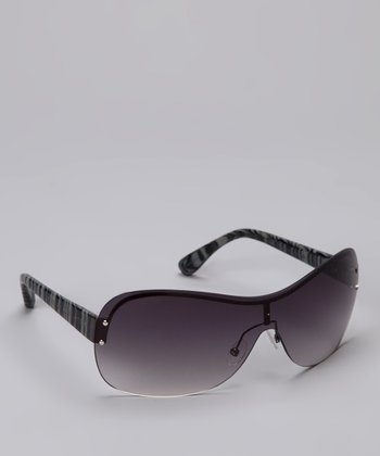 Black Stripe Shield Sunglasses