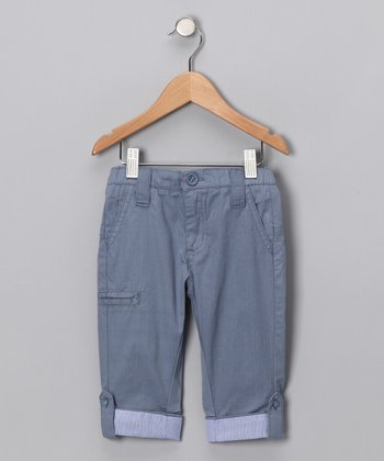 Infinity Blue Cropped Pants - Boys