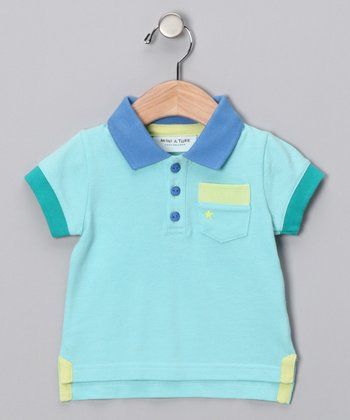 Angel Blue Polo - Infant, Toddler & Boys