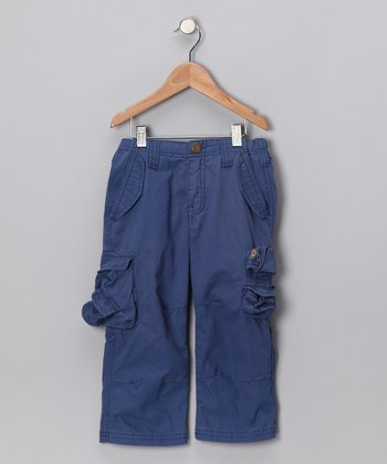 True Navy Fabio Cargo Pants - Boys