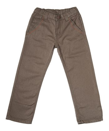 Dark Olive Gaston Pants - Toddler & Boys