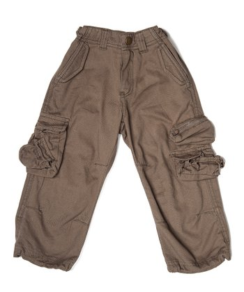 Dark Olive Gottlieb Pants - Boys