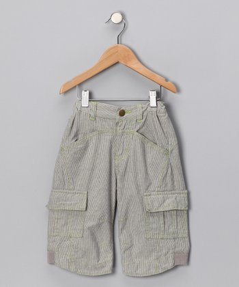 Ombré Blue Cargo Shorts - Toddler & Boys