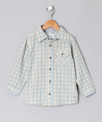 Cloud Blue Nilas Button-Up - Toddler & Boys