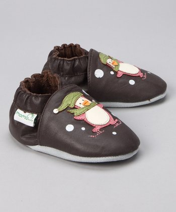 MOMO Baby Brown Penguin Booties