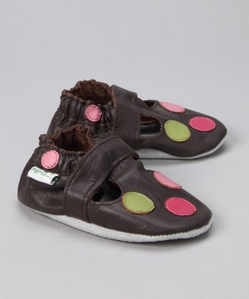 MOMO Baby Brown Circle Booties