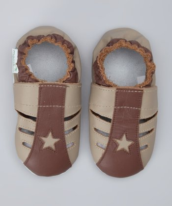 Brown Star Booties