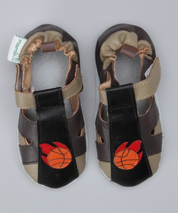 Black & Brown Basketball Booties