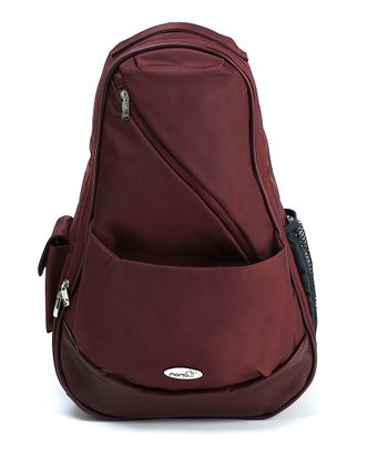 Burgundy Backpack Diaper Bag