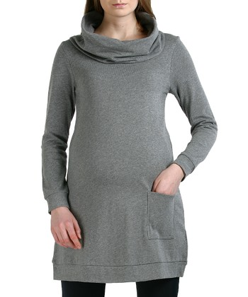 Gray Bailey Maternity Cowl Neck Tunic