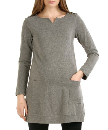 Gray Autumn Maternity Tunic