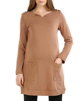 Taupe Autumn Maternity Tunic
