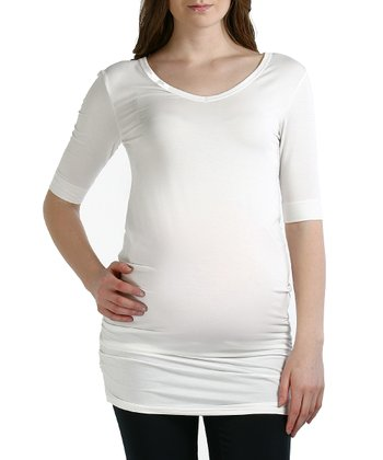 White Rachel Maternity Tunic