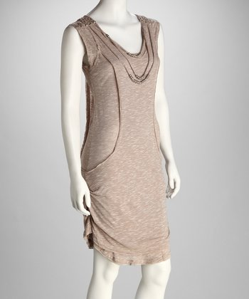 Khaki Necklace Dress
