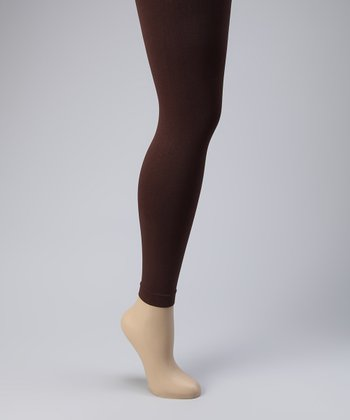 Brown Footless Tights Set - Women