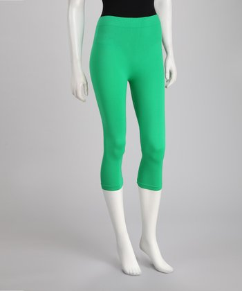 Green Capri Leggings Set - Women