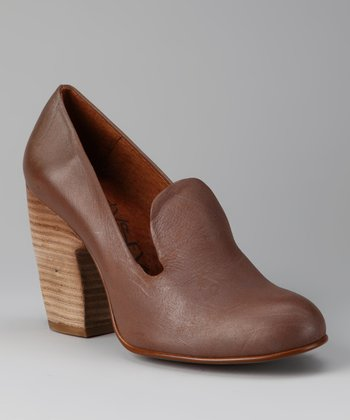 Chocolate Slip-On Loafer Pump