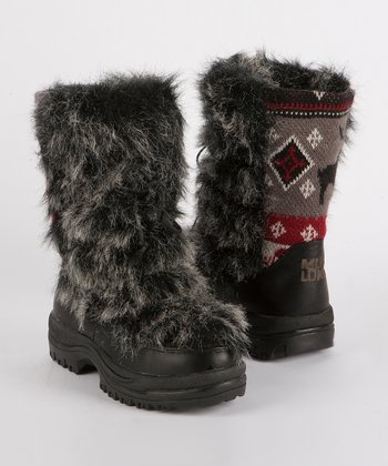 Gray Massak Leather Boot - Women