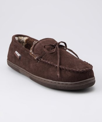 MUK LUKS Chocolate Paul Moccasin Slipper