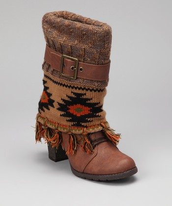Brown Cassandra Fringe Boot - Women