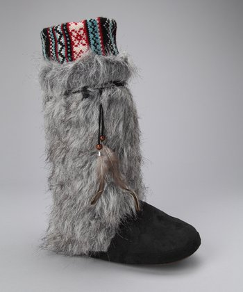 Gray Elana Slipper Boot - Women