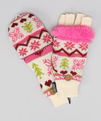 Vanilla & Tea Rose Convertible Mittens - Women