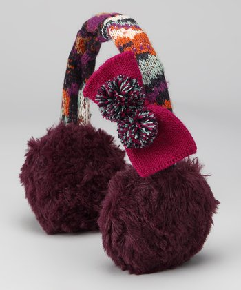 Purple Boho Earmuffs - Kids