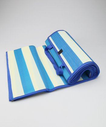 Blue Stripe Beach Mat