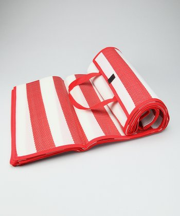 Red Stripe Beach Mat