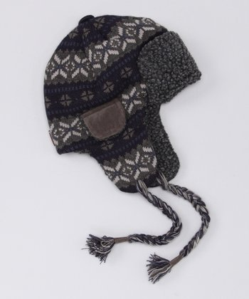 Navy & Gray Trapper Hat - Men