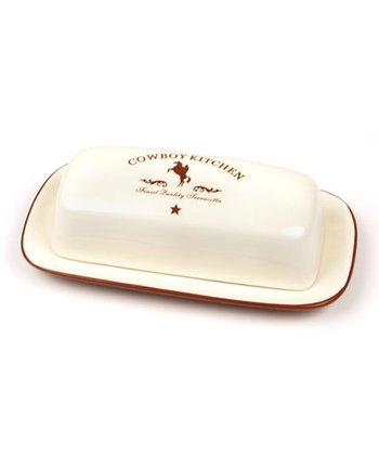 'Cowboy Kitchen' Covered Butter Dish