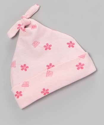 Pink Flower Pot	Single-Knot Beanie - Infant