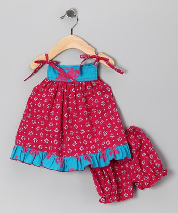Ma Petite Amie Pink Baby Mutiara Dress & Bloomers - Infant