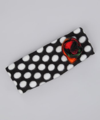 Black & White Polka Dot Headband