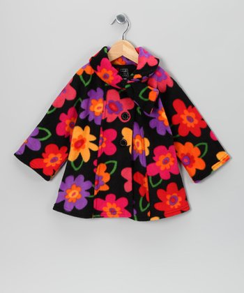 Pink & Purple Floral Fleece Coat - Infant, Toddler & Girls