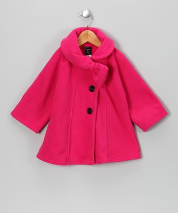 Hot Pink Bow Fleece Coat - Infant, Toddler & Girls