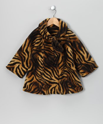 Tiger Fleece Coat - Toddler & Girls