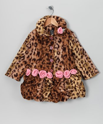 Cheetah Fleece Coat - Infant, Toddler & Girls