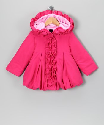 Pink Ruffle Fleece Coat - Infant, Toddler & Girls