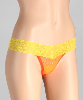 Tangerine & Lemon Hologram Low-Rise Thong - Women