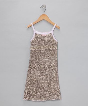 Cheetah Sleeveless Dress - Toddler & Girls