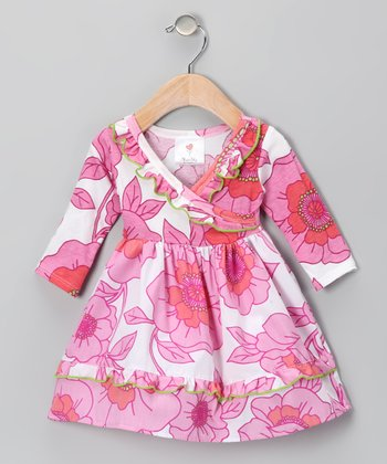 Newport Poppy Surplice Dress - Infant & Toddler