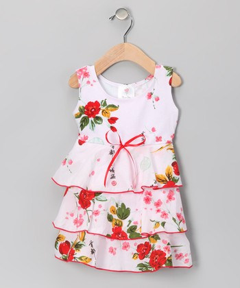 Pink Vintage Floral Havana Dress - Infant & Toddler