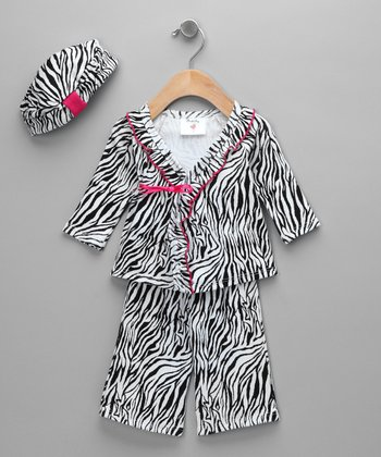 Zebra Wrap Top Set - Infant