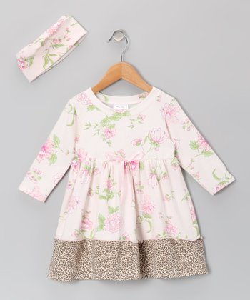 Pink Floral Dress & Beanie - Infant & Toddler